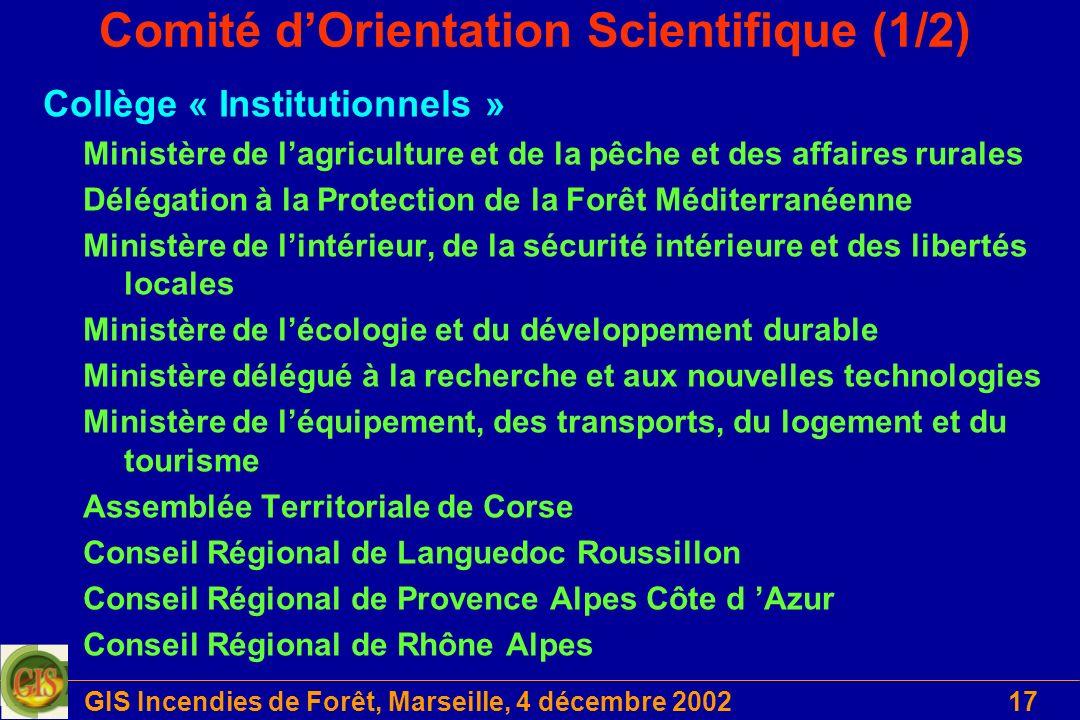 Comité d'Orientation Scientifique (1/2)