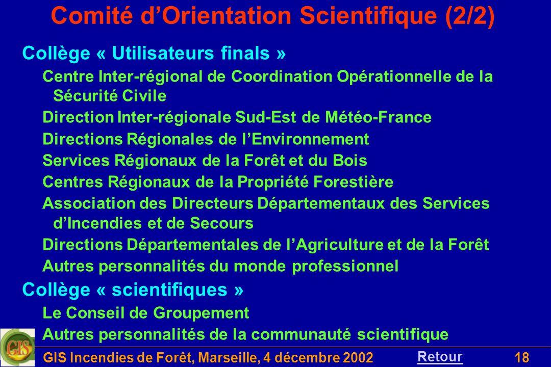 Comité d'Orientation Scientifique (2/2)