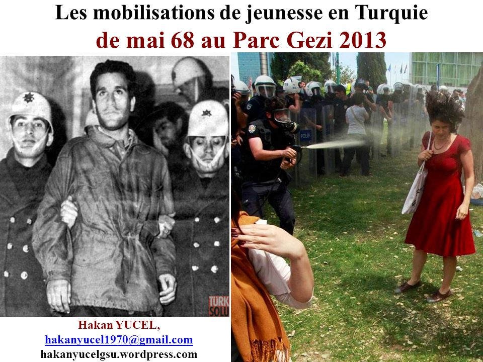 Les mobilisations de jeunesse en Turquie de mai 68 au Parc Gezi 2013