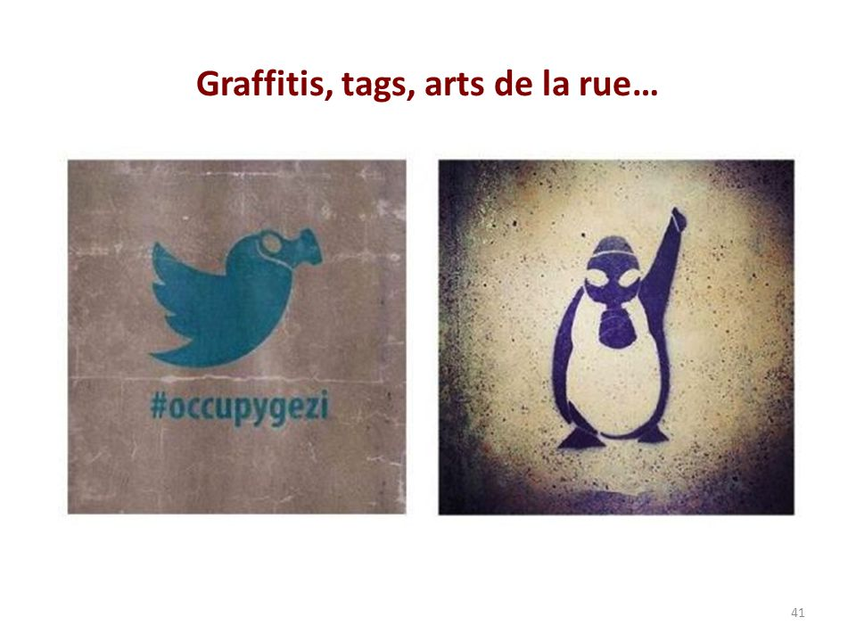 Graffitis, tags, arts de la rue…