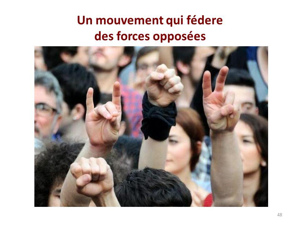 Un mouvement qui fédere des forces opposées