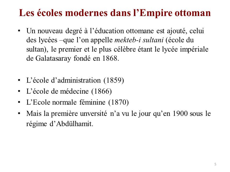 Les écoles modernes dans l'Empire ottoman