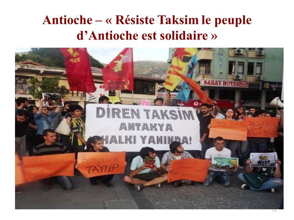 Antioche – « Résiste Taksim le peuple d'Antioche est solidaire »
