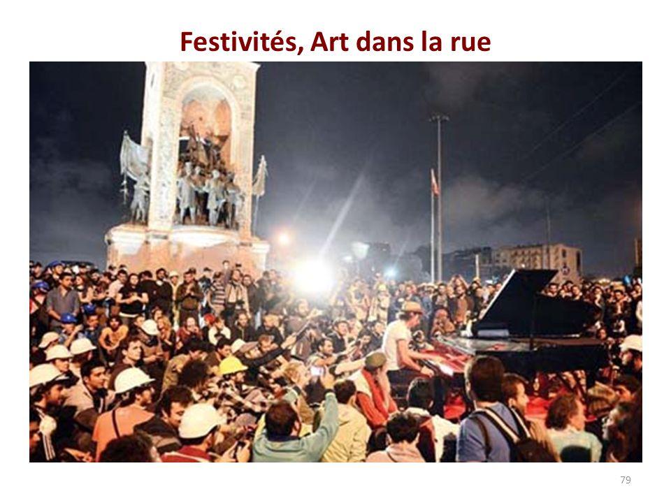 Festivités, Art dans la rue