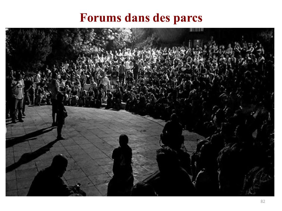 Forums dans des parcs