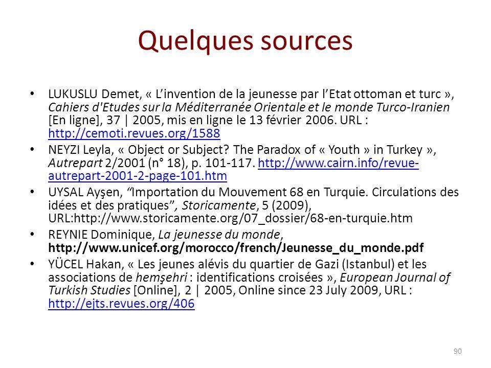 Quelques sources