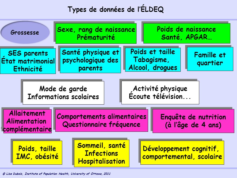 Types de données de l'ÉLDEQ
