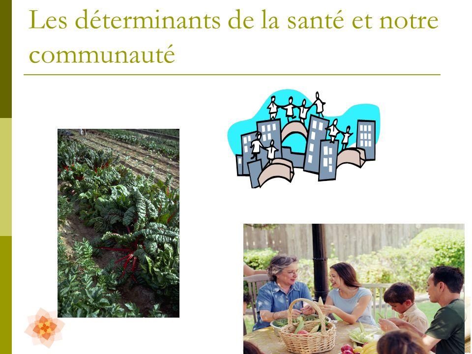 Les déterminants de la santé et notre communauté