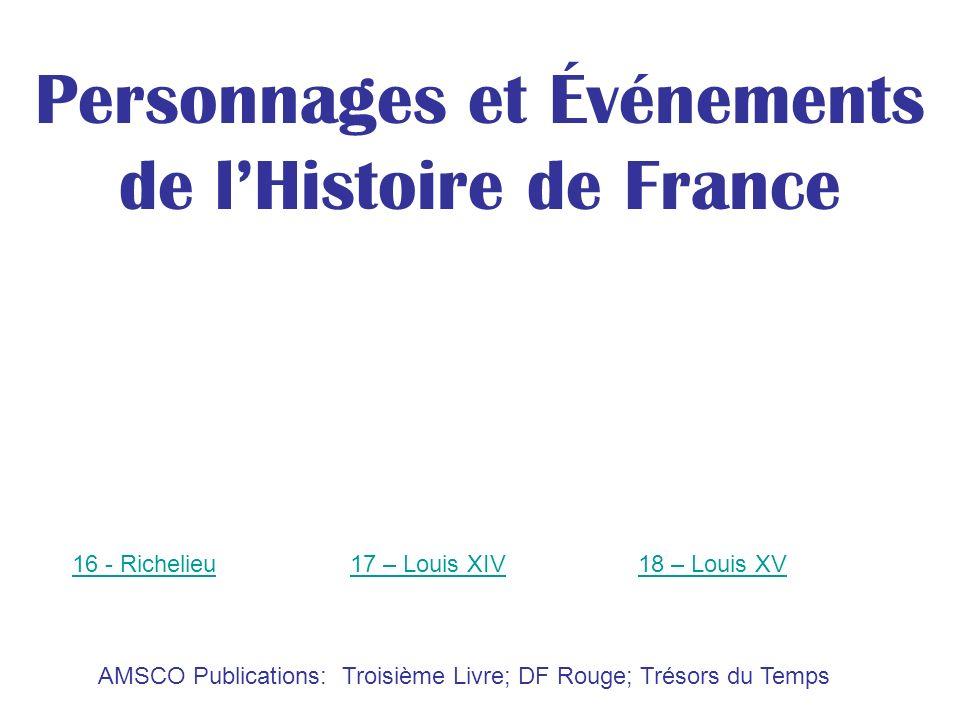 Personnages et Événements de l'Histoire de France