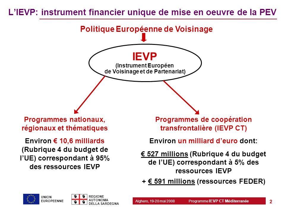 L'IEVP: instrument financier unique de mise en oeuvre de la PEV