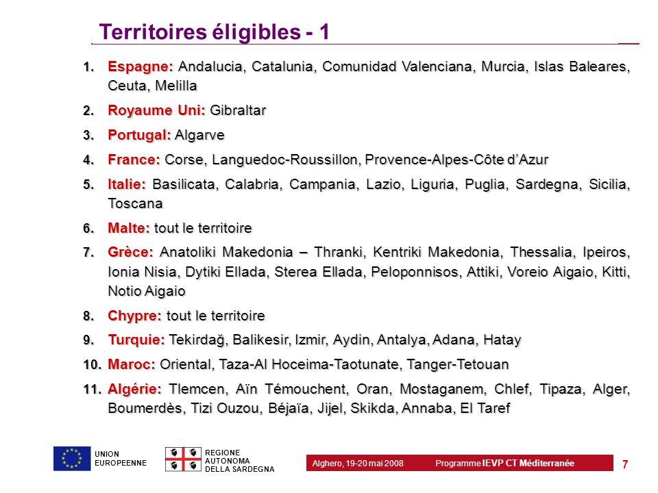 Territoires éligibles - 1