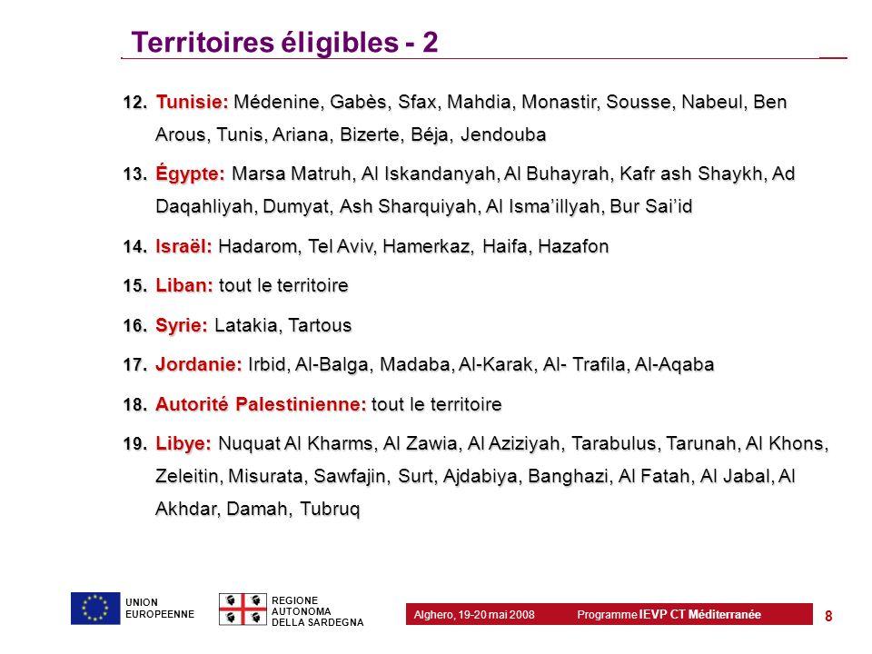 Territoires éligibles - 2