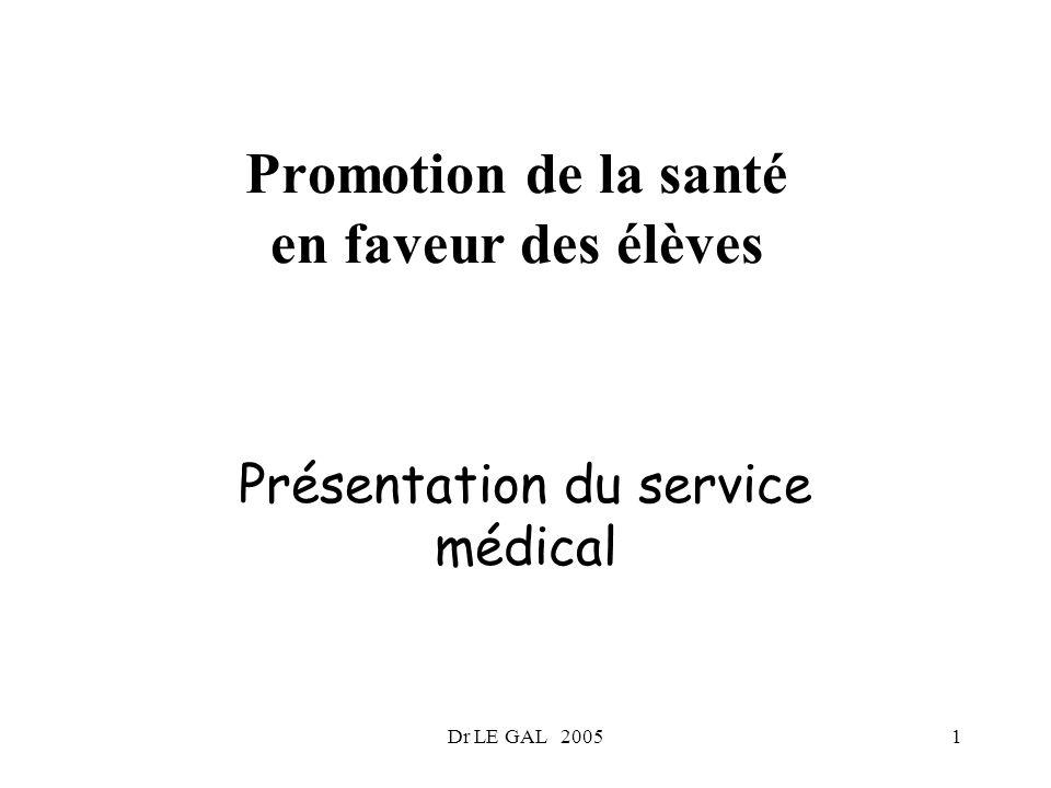 Promotion de la santé en faveur des élèves