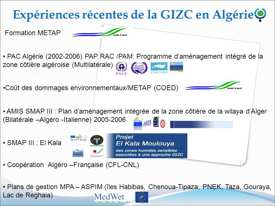 Expériences récentes de la GIZC en Algérie