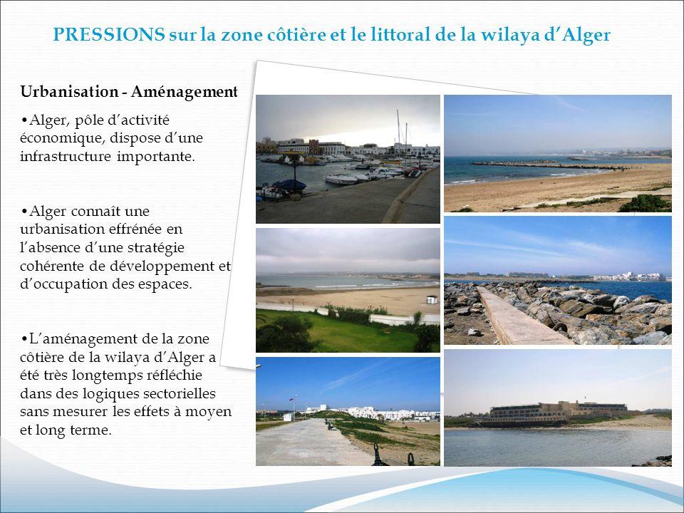 PRESSIONS sur la zone côtière et le littoral de la wilaya d'Alger