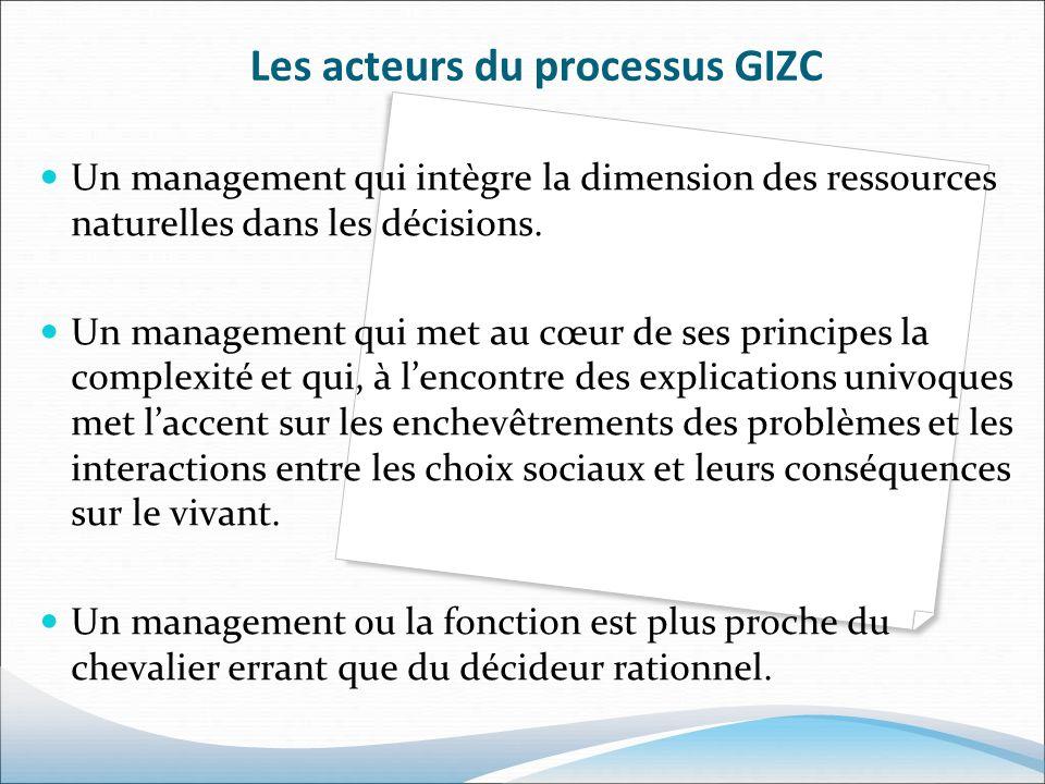 Les acteurs du processus GIZC