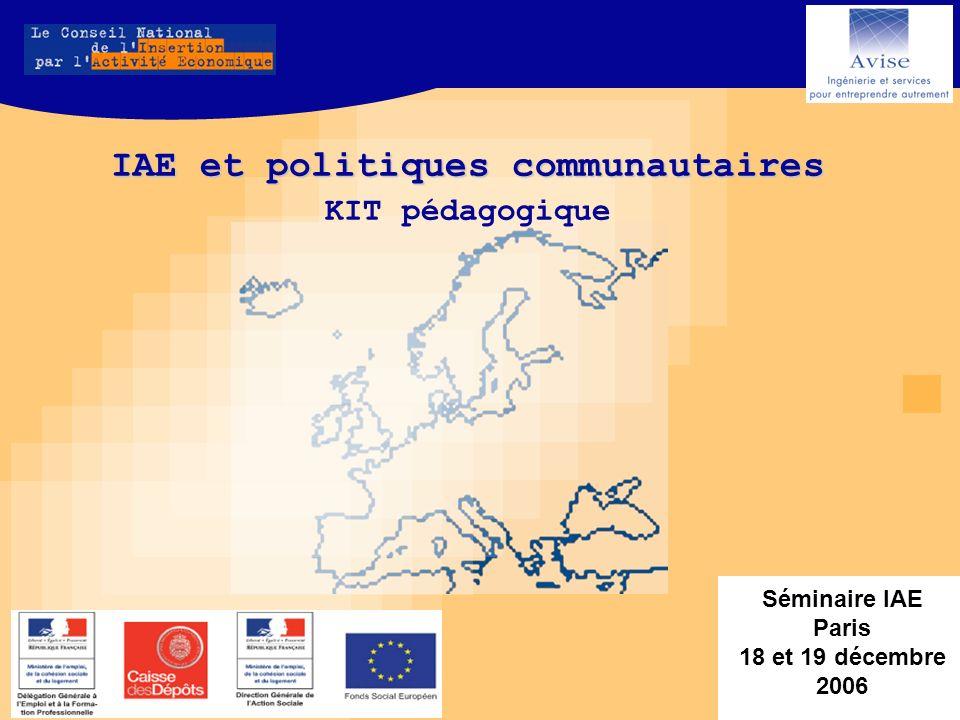 Séminaire IAE Paris 18 et 19 décembre 2006