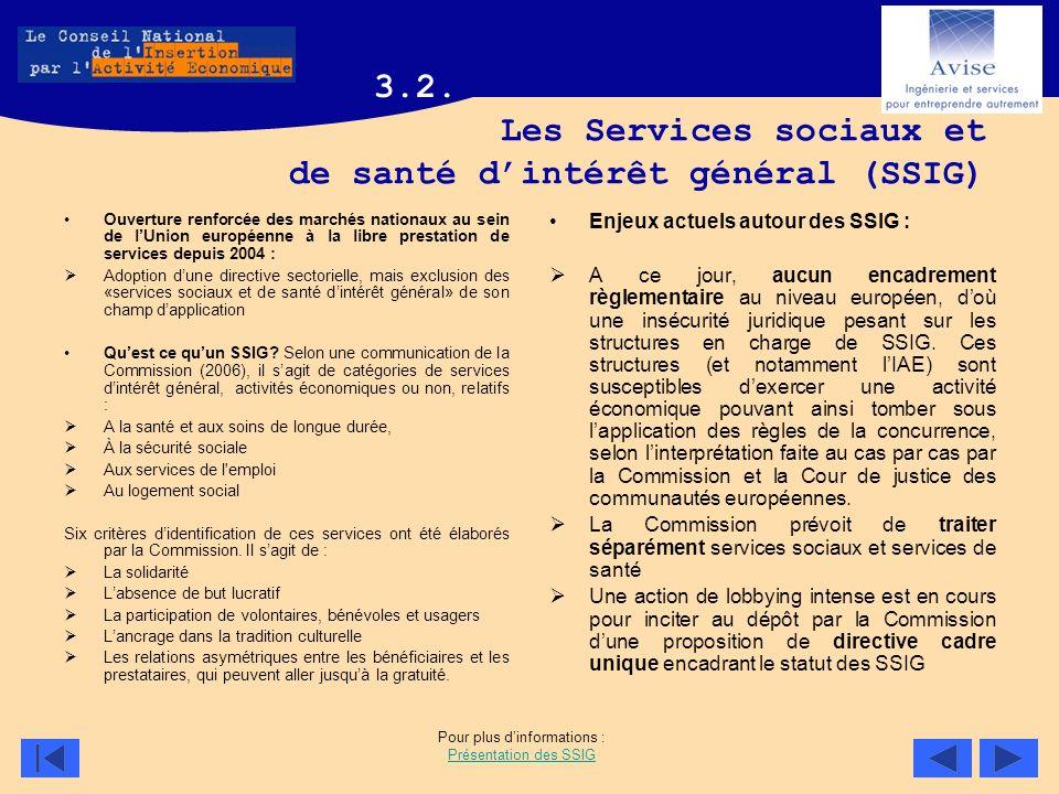 Les Services sociaux et de santé d'intérêt général (SSIG)