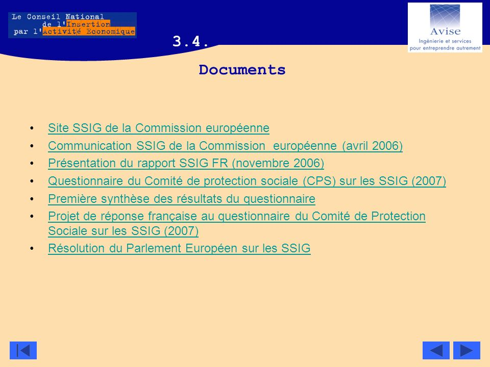3.4. Documents Site SSIG de la Commission européenne