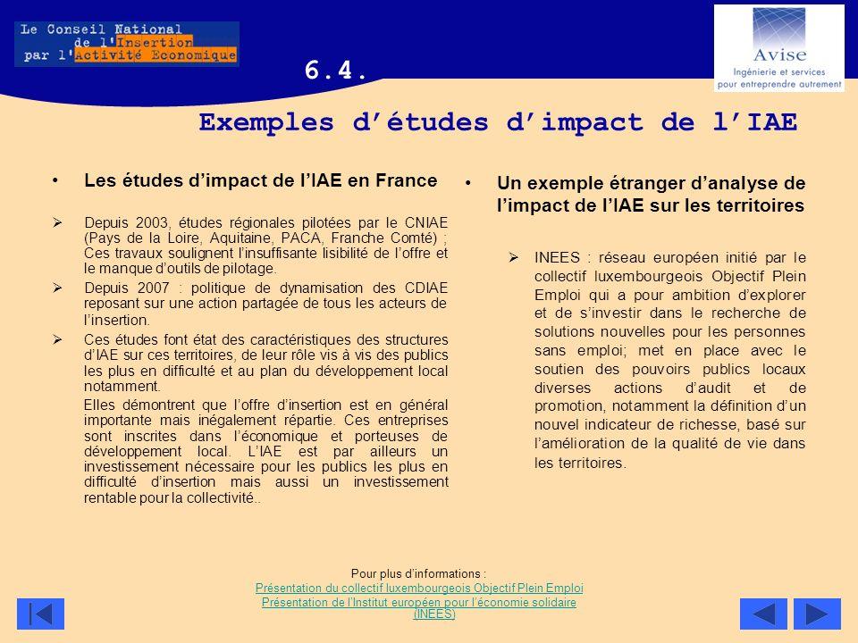 Exemples d'études d'impact de l'IAE