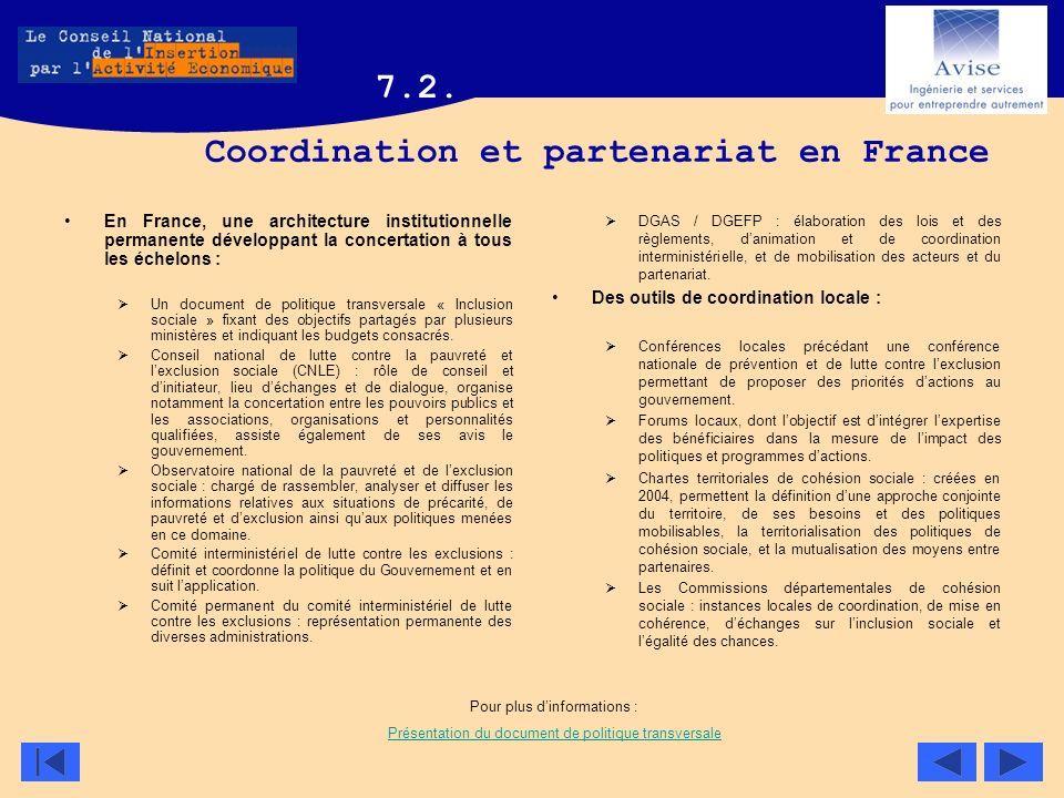 Coordination et partenariat en France