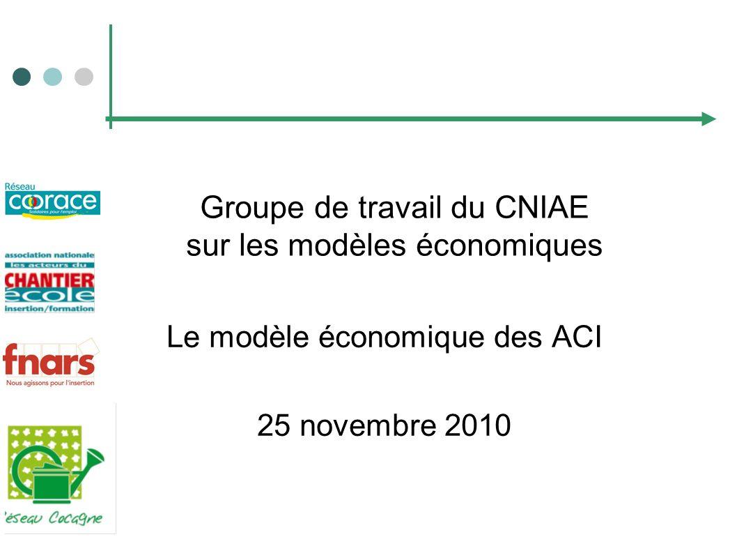 Groupe de travail du CNIAE sur les modèles économiques