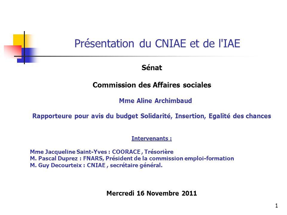 Présentation du CNIAE et de l IAE