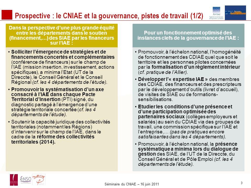 Prospective : le CNIAE et la gouvernance, pistes de travail (1/2)