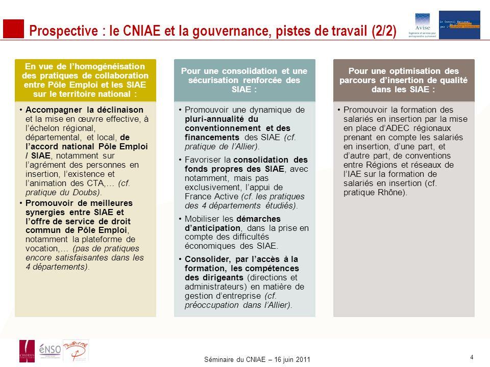 Prospective : le CNIAE et la gouvernance, pistes de travail (2/2)