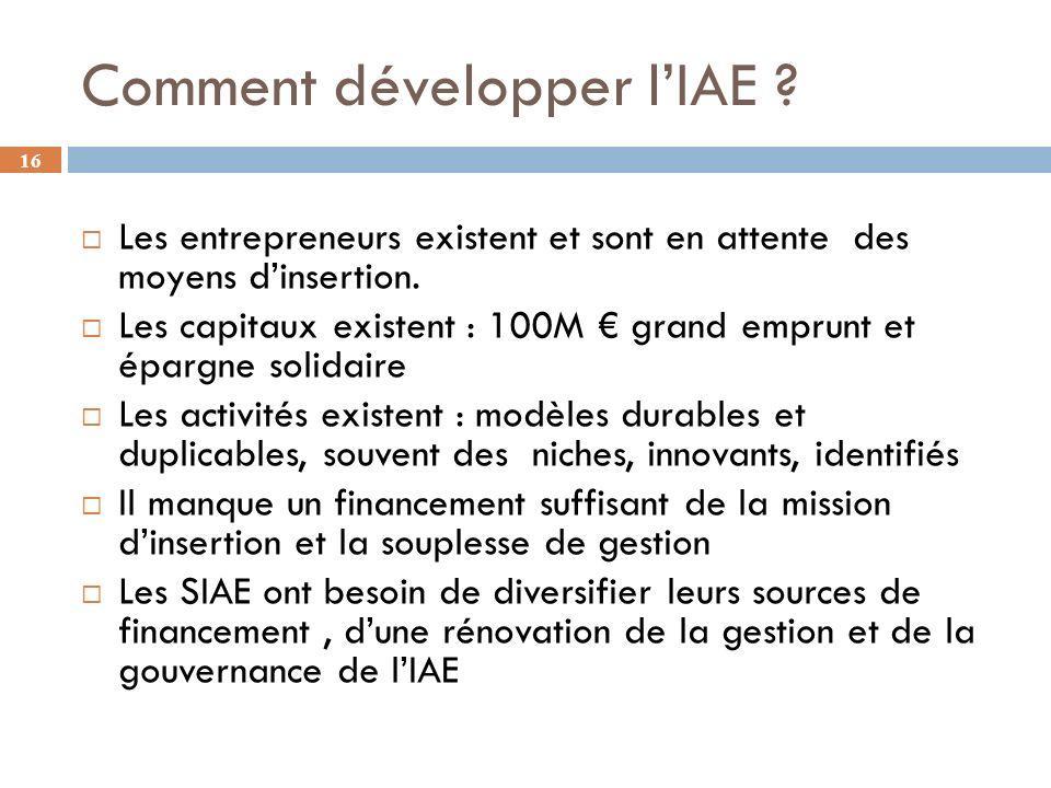 Comment développer l'IAE