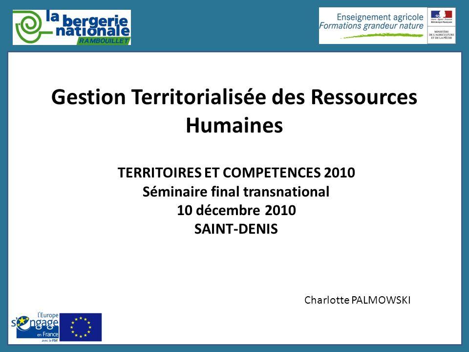 Gestion Territorialisée des Ressources Humaines