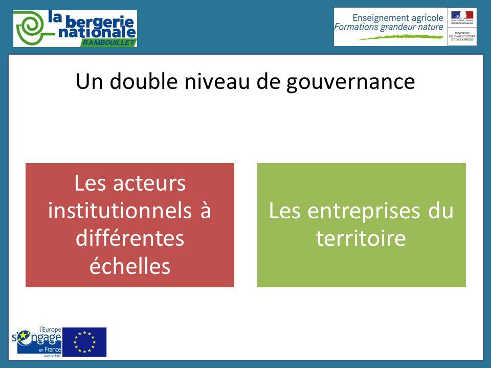 Un double niveau de gouvernance