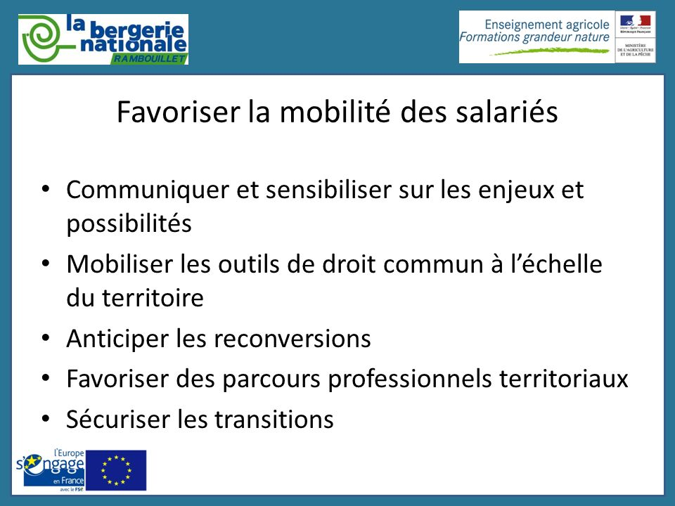 Favoriser la mobilité des salariés