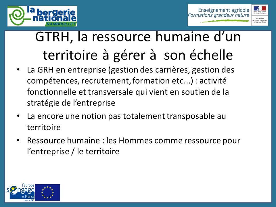 GTRH, la ressource humaine d'un territoire à gérer à son échelle