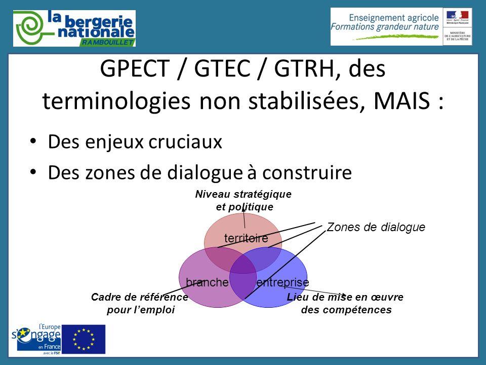 GPECT / GTEC / GTRH, des terminologies non stabilisées, MAIS :