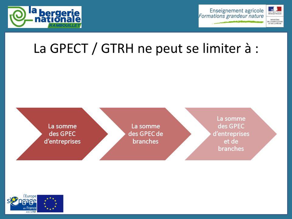 La GPECT / GTRH ne peut se limiter à :