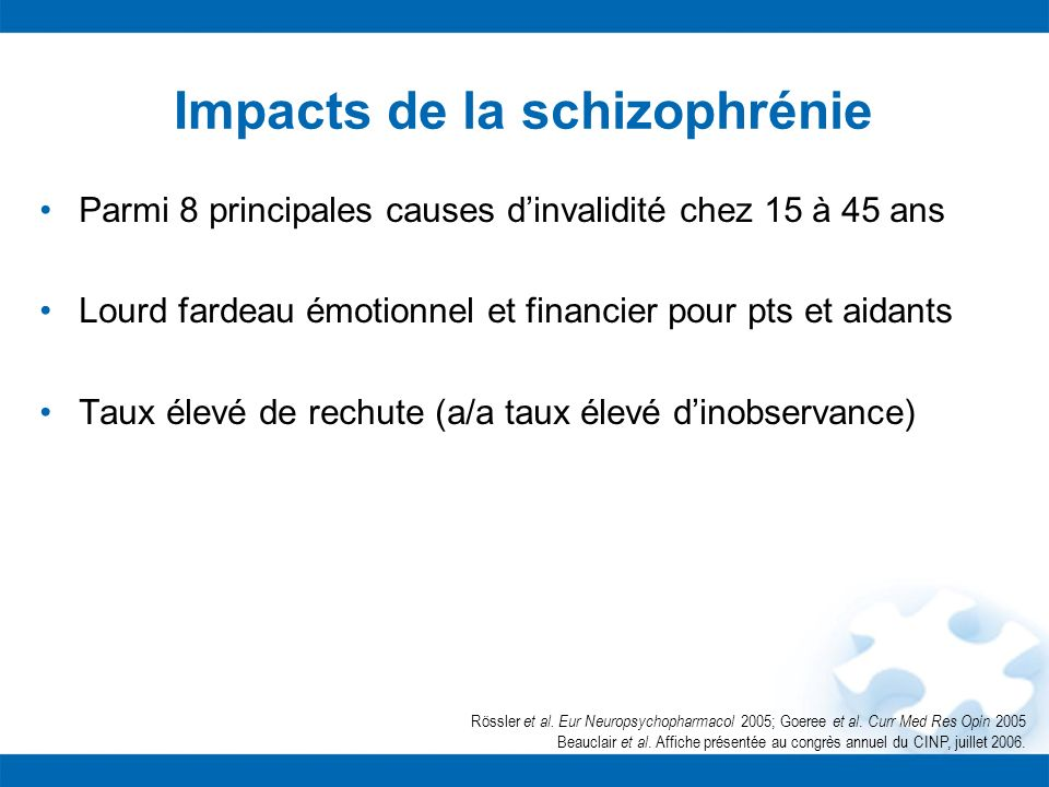Impacts de la schizophrénie