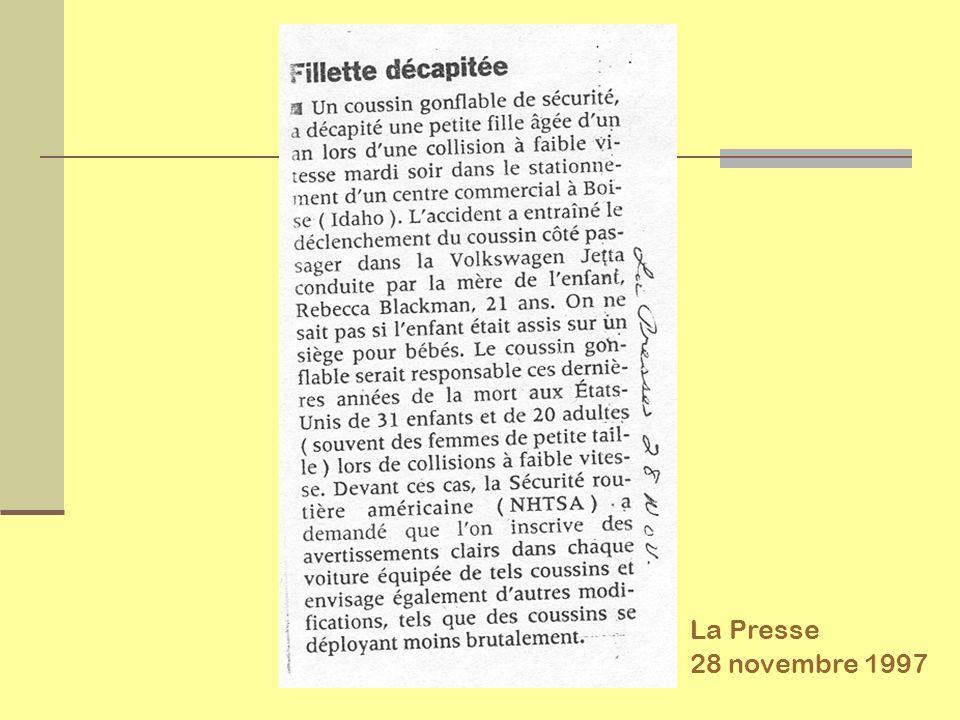 La Presse 28 novembre 1997
