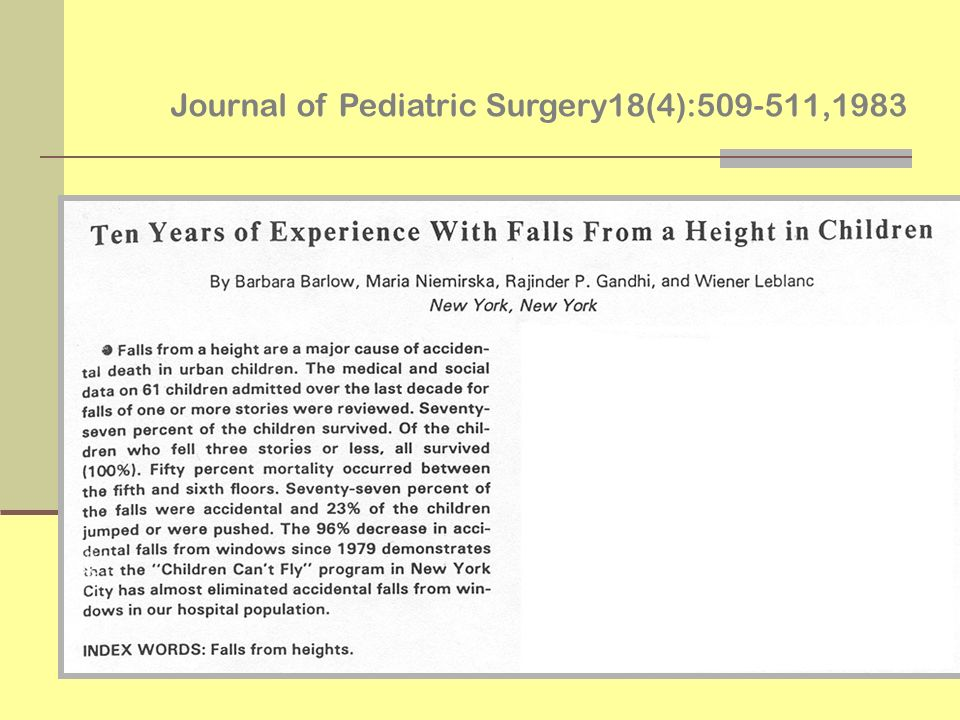 Journal of Pediatric Surgery18(4):509-511,1983