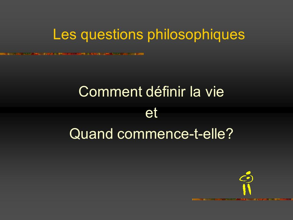 Les questions philosophiques