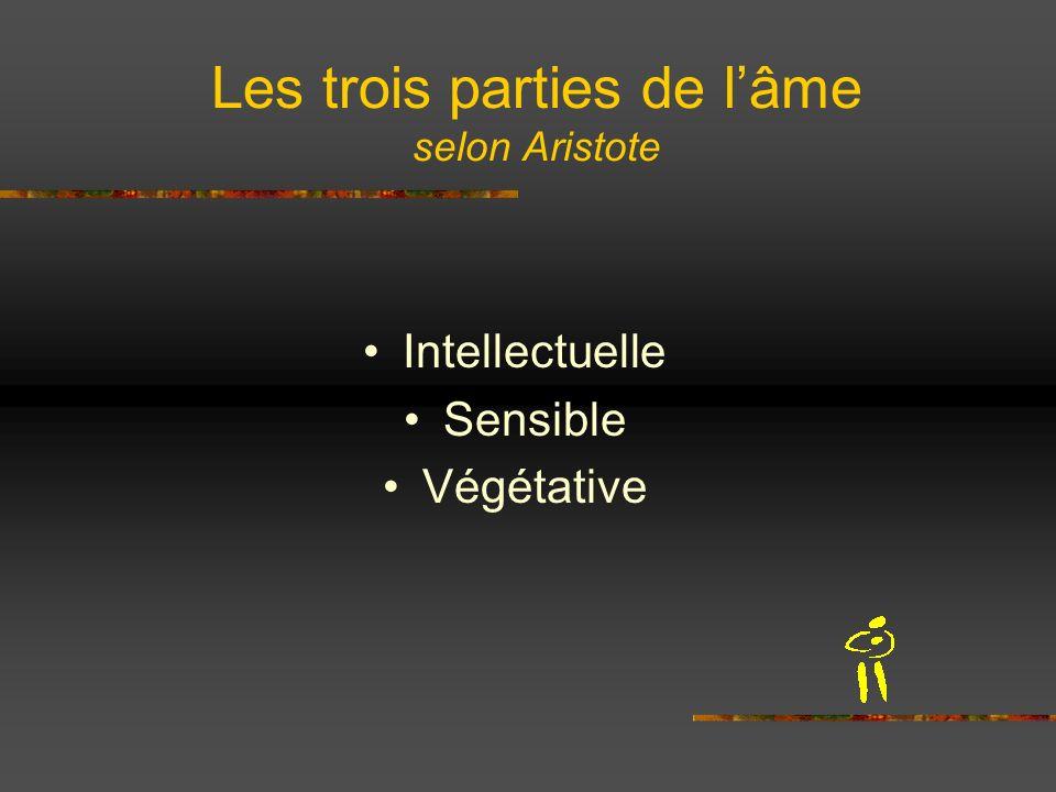 Les trois parties de l'âme selon Aristote