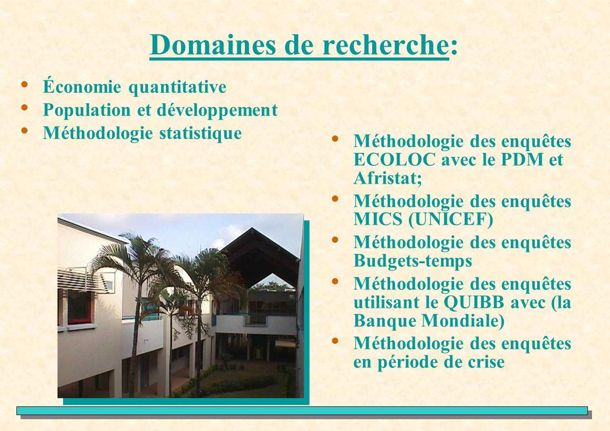 Domaines de recherche: