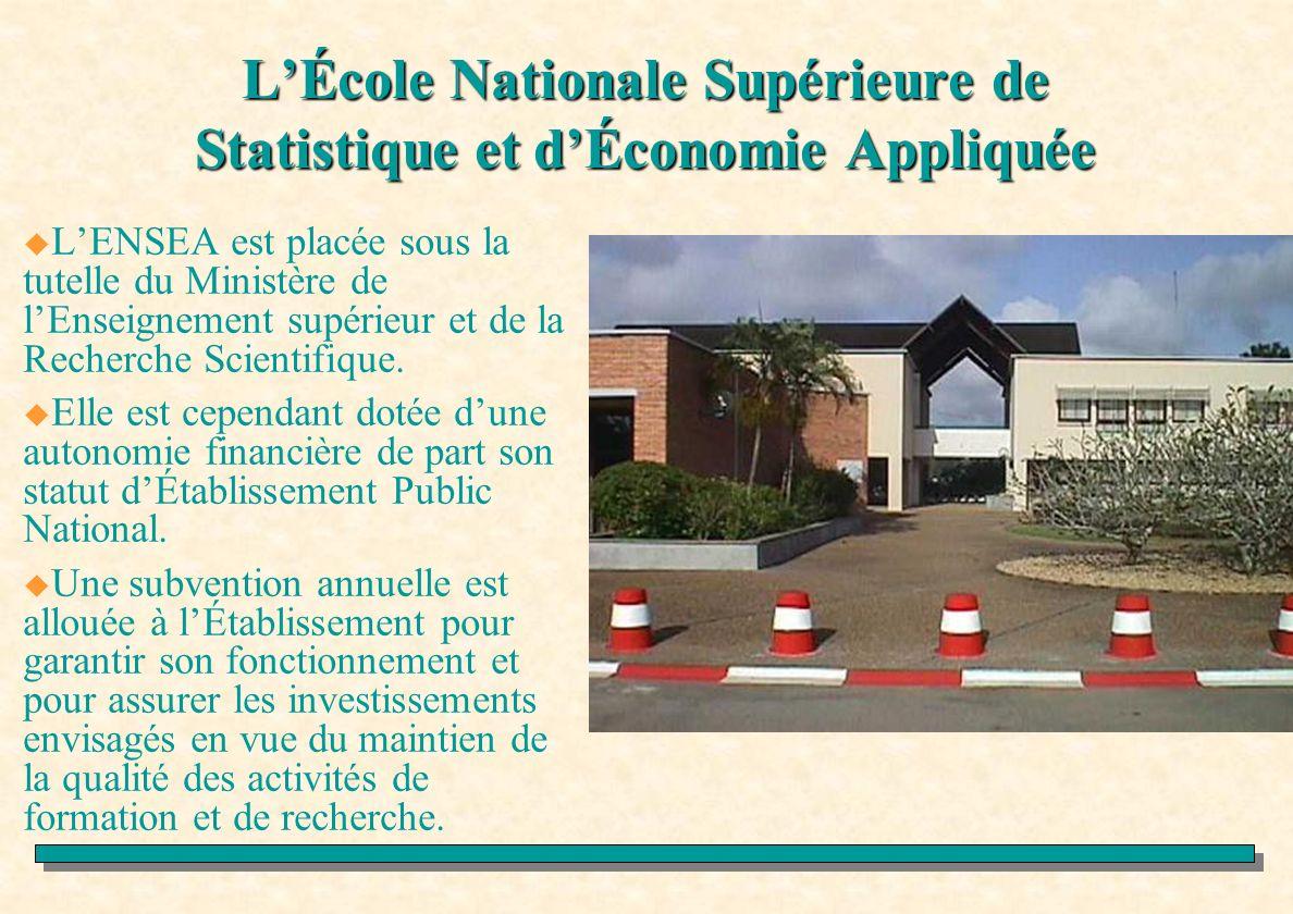 L'École Nationale Supérieure de Statistique et d'Économie Appliquée