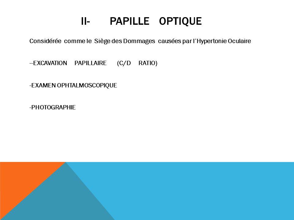ii- PAPILLE OPTIQUE