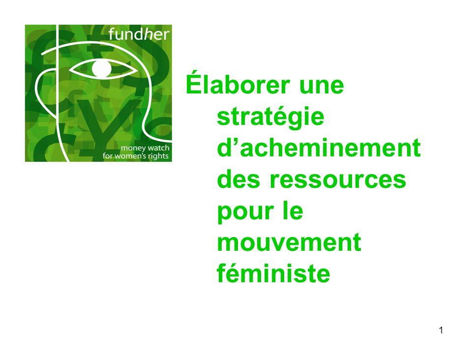 Élaborer une stratégie d'acheminement des ressources pour le mouvement féministe