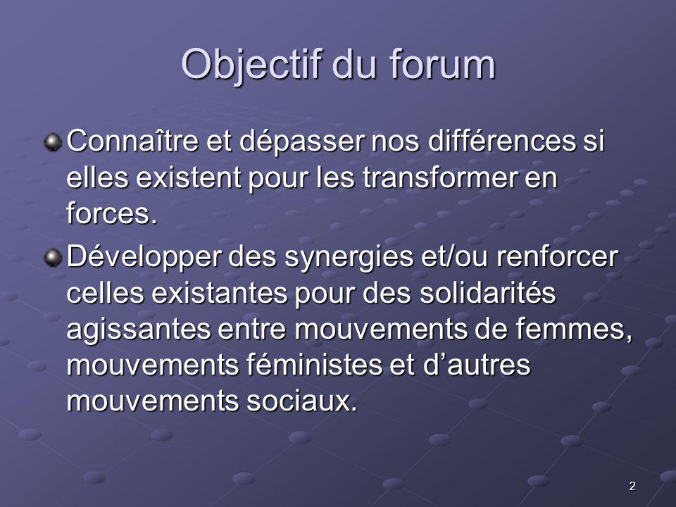 Objectif du forumConnaître et dépasser nos différences si elles existent pour les transformer en forces.
