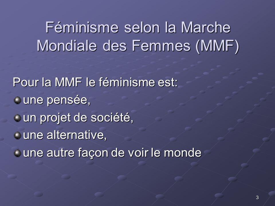 Féminisme selon la Marche Mondiale des Femmes (MMF)