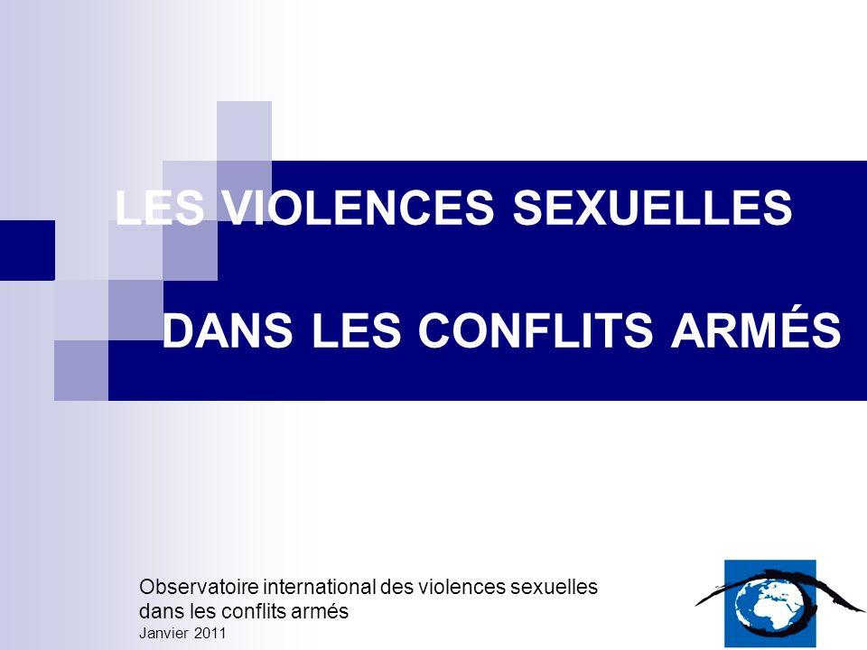 LES VIOLENCES SEXUELLES DANS LES CONFLITS ARMÉS