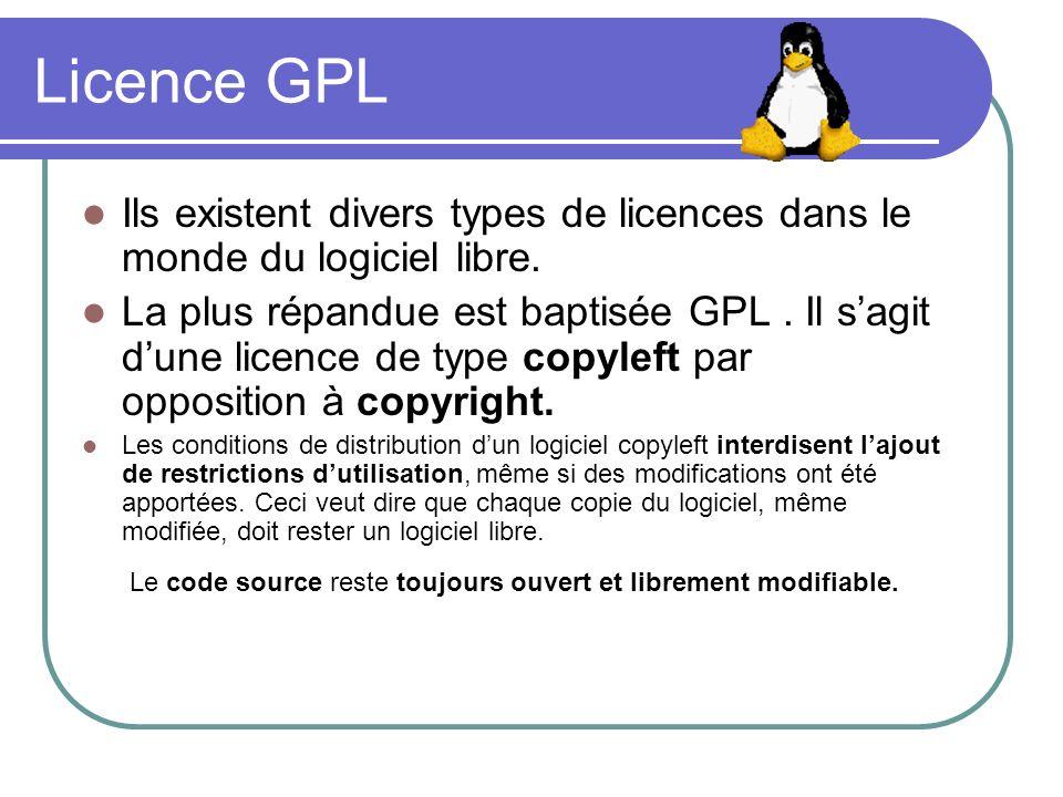 Le code source reste toujours ouvert et librement modifiable.