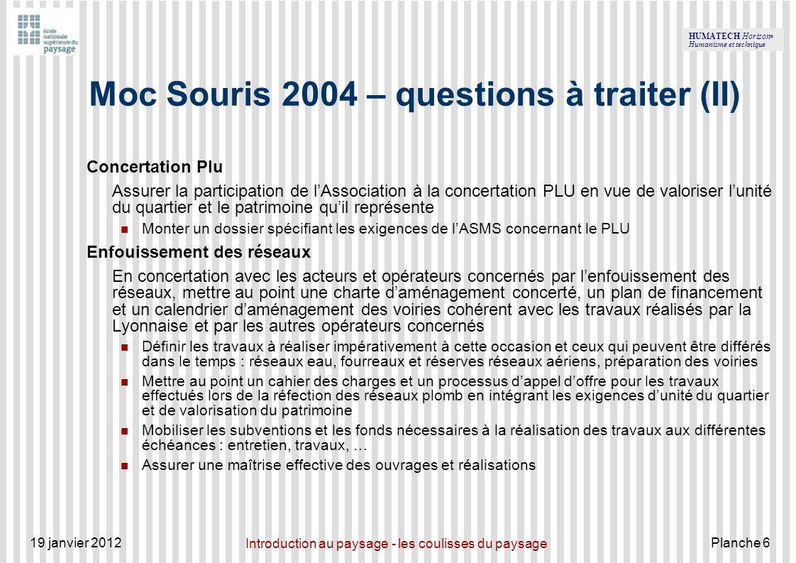 Moc Souris 2004 – questions à traiter (II)